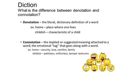 denotations and connotations essay A lesson plan for connotation and denotation with connotation examples from the animal creative writing lesson plan: using details how to write a cause and effect essay how to write a conclusion for an essay lesson plan how to write a persuasive denotation and connotation lesson plan.