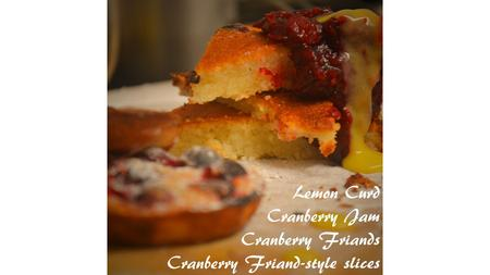 Cranberry Friands & Friand-style slices Ingredients: 100g unsalted butter, melted & cooled 140g icing sugar plus extra for dusting 25g plain flour 85g.