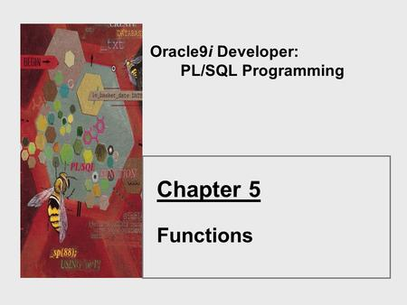 Oracle9i Developer: PL/SQL Programming Chapter 5 Functions.