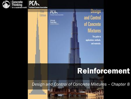 Reinforcement Design and Control of Concrete Mixtures – Chapter 8.