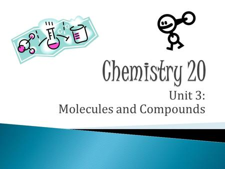 Unit 3: Molecules and Compounds.  Chemical Formula  How to determine the charge of an ion: