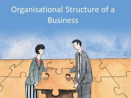 Organisational Structure of a Business. Learning Objectives Analyse the main features of an organisational chart, including levels of hierarchy, chain.