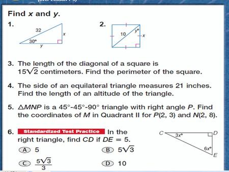 TRIGONOMETRY Sec: 8.3 Sol: G.8  You can use trigonometric ratios to find missing measures of sides AND angles of right triangles.  A ratio of the lengths.