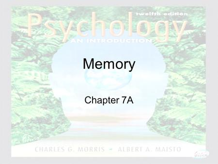 Psychology: An Introduction Charles A. Morris & Albert A. Maisto © 2005 Prentice Hall Memory Chapter 7A.