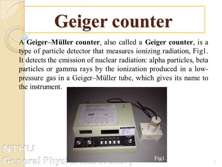 Geiger counter NTHU General Physics Laboratory
