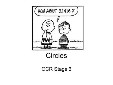 Circles OCR Stage 6.