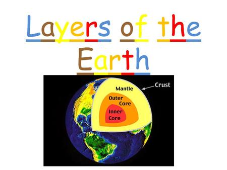 Layers of theEarthLayers of theEarth. CrustCrust The crust is the thinnest layer of the Earth. The crust is made up of ROCK. Rocks are made from 1 or.