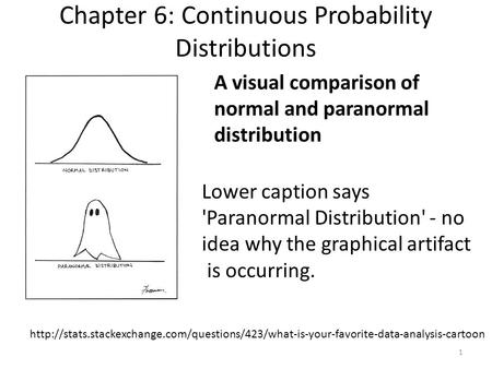 Chapter 6: Continuous Probability Distributions  A visual comparison.