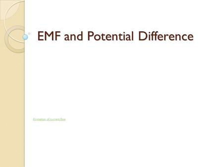 EMF and Potential Difference Animation of current flow.