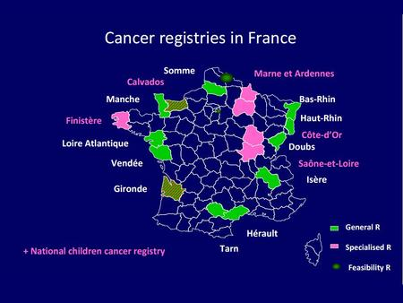 FRENCH high-resolution studies - Breast cancer: 1990, 1997, 2003, 2010 ? - Colorectal cancer: 1990, 1995, 2000, 2005, 2010 ? - Prostate cancer: 1995,