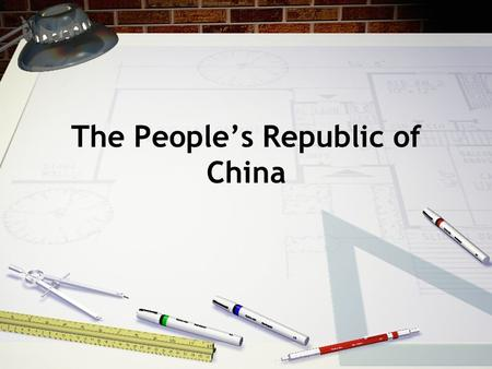 The People's Republic of China. Summary of History Long period of Dynasties 1650 BCE-1911CE –Some Great some Weak –Some not truly Chinese Calls for modernization.