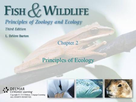 Copyright © 2010 Delmar, Cengage Learning. ALL RIGHTS RESERVED. Chapter 2 Principles of Ecology.