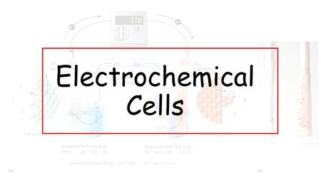 Electrochemical Cells. A battery is a combination of electrochemical cells. Each electrochemical cell is a package of chemicals that converts chemical.