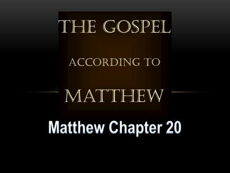 Matthew 19:13-15 Matthew 19:16-26 Matthew 19:26 Jesus said to them,  With people this is impossible, but with God all things are possible. NASU.
