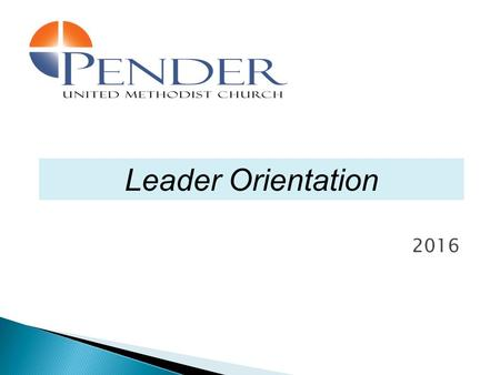 2016 Leader Orientation. Feedback from Pender's ministry and committee leaders  I don't know who to report to  I don't know what is expected of me 