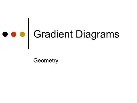 Gradient Diagrams Geometry The diagram shows a straight line with the vert/horiz. distances marked on it. Straight line horizontal vertical In each of.