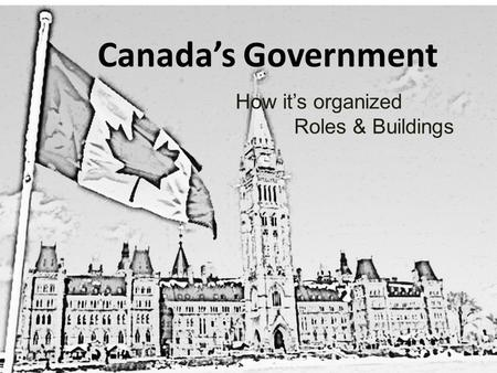 Canada's Government How it's organized Roles & Buildings.