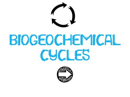 Biogeochemical Cycles Recall that matter is neither created nor destroyed; but it can transform and be passed on. Biogeochemical cycles: how water, carbon,