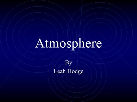 Atmosphere By Leah Hodge Layers of the Atmosphere Troposphere Stratosphere Mesosphere Thermosphere.