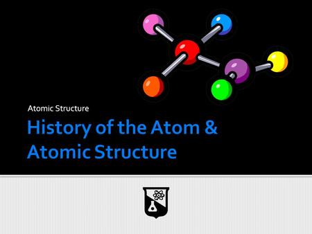 Atomic Structure.  Democritus (460 BC – 360 BC)  Ancient Greek philosopher ▪ No experiments performed!  Major Contribution: The Atom ▪ He proposed.