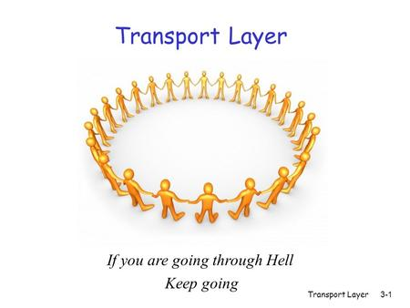 Transport Layer3-1 Transport Layer If you are going through Hell Keep going.