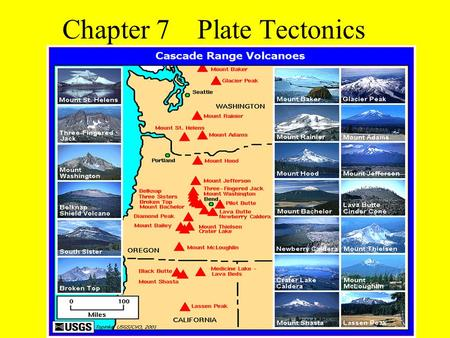 Chapter 7Plate Tectonics. Section 7-1 Earth's Interior The Earth is composed of 4 layers: