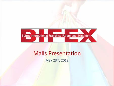 Malls Presentation May 23 rd, 2012. THE NEED FOR MALLS Life is rather hectic. Time has become a valuable factor. People are looking for more convenience.