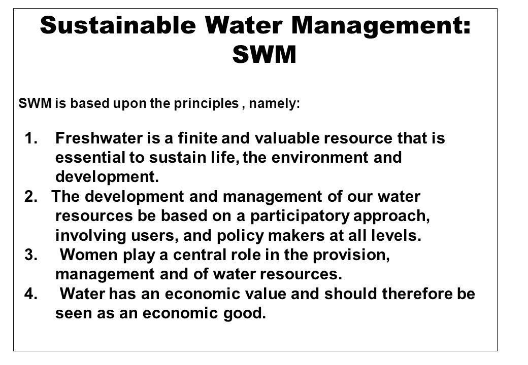 Water s vital role for the environment and humans is linked to five main functions : 1.
