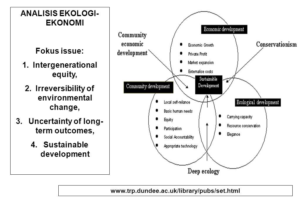 Nilai ekonomi dari natural-capital dan ecosystem-services sangat penting dalam ecological- economics.