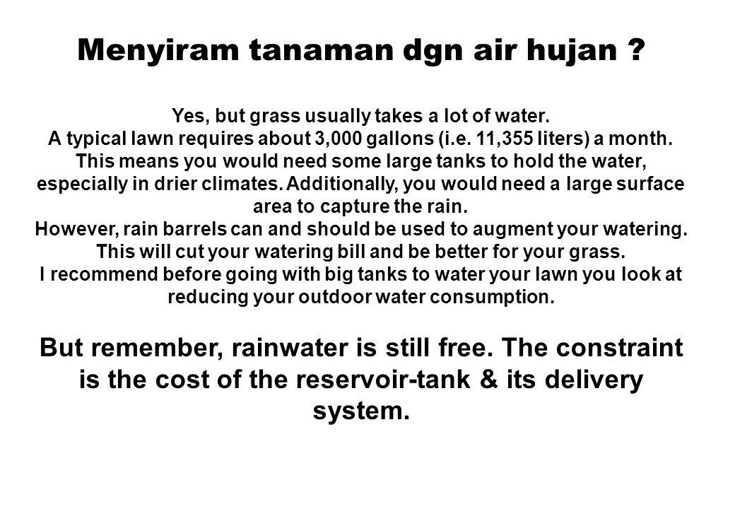 Bagaimana kualitas air hujan .