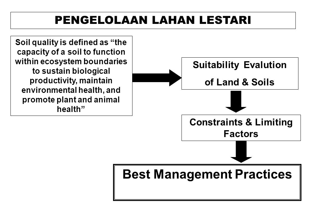 Principles of Sustainable Land Management: SLM land should be managed to deliver a wide range of benefits beyond food and fibre production.