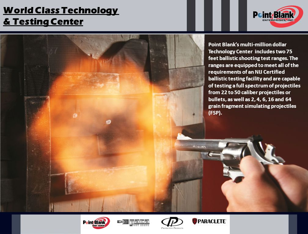 Point Blank routinely conducts Live-Fire Shoot Demonstrations for law enforcement agencies nationwide.