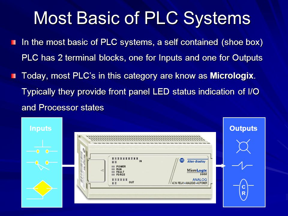 Modular Chassis Based PLC's The vast majority of PLC's installed today are modular chassis based systems consisting of: 1.