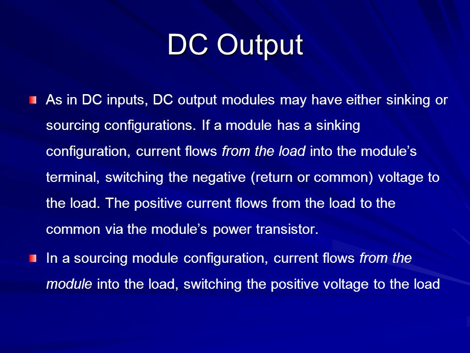 An Example of a 24Vdc Output Card With a Voltage Input (Sourcing)