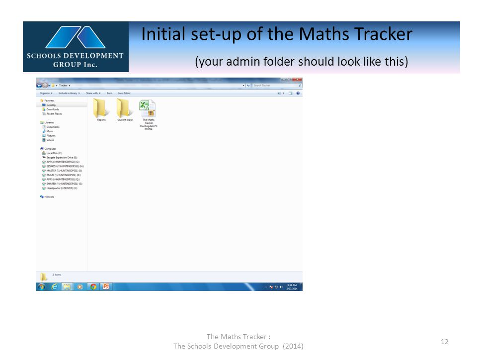 3.Create a new folder in a shared drive that all teachers and admin staff can access.