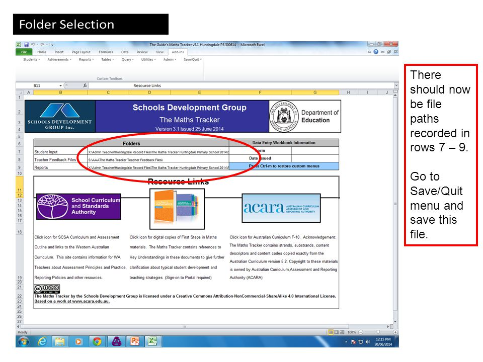 Import Integris Student Files The Maths Tracker : The Schools Development Group (2014) 26 Click the Students Tab then click the Import Integris Student Files You will see a message in bottom left hand corner of screen saying Please wait....importing student data .