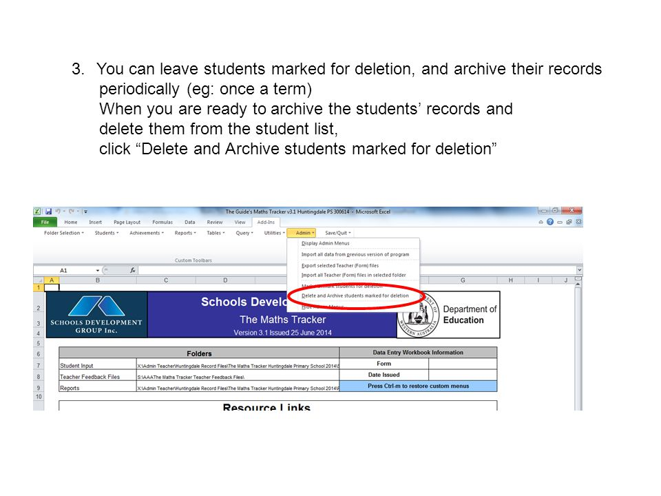 4.Browse your computer to select a folder to keep archived records.