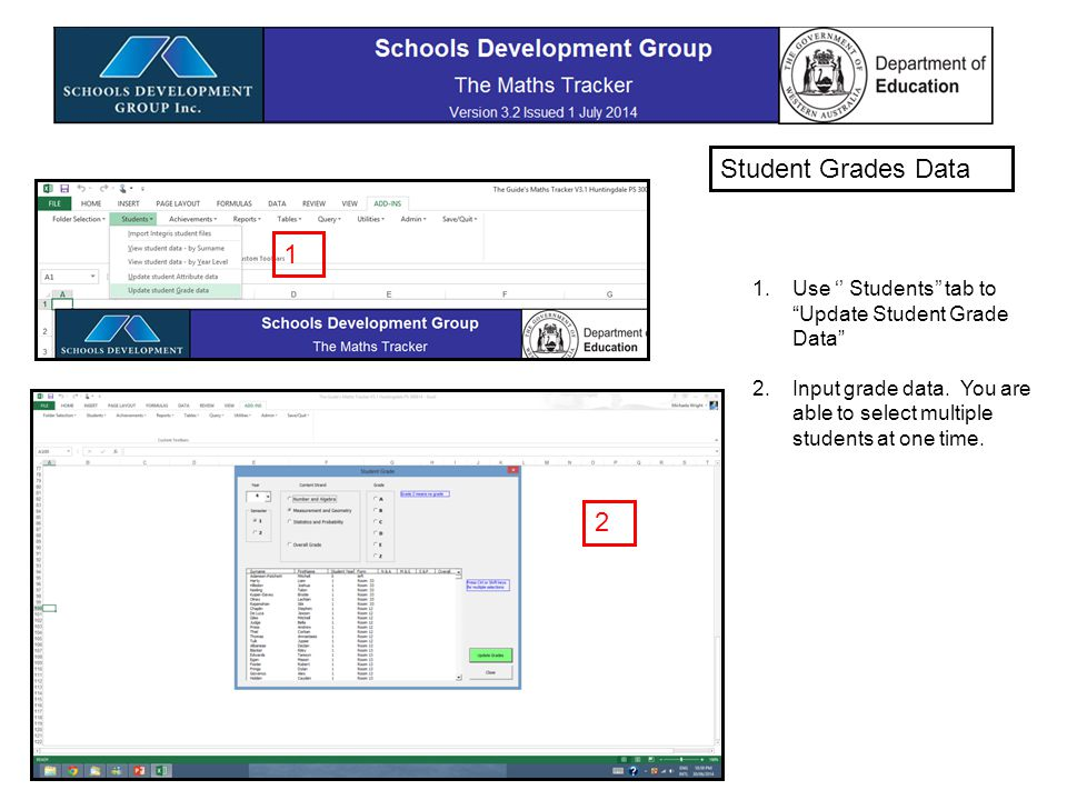 Using Reports tab, Select Grades reports and Charts View data by chart