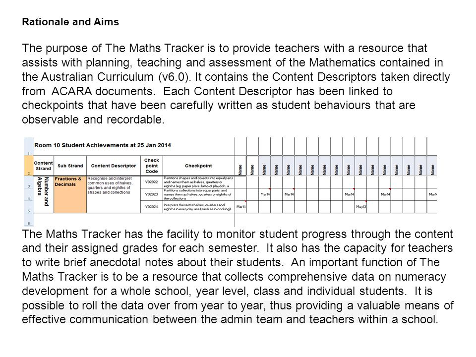 Proficiency Strands: The Maths Tracker contains elaborations of the Content Strand of Australian Curriculum Mathematics only.