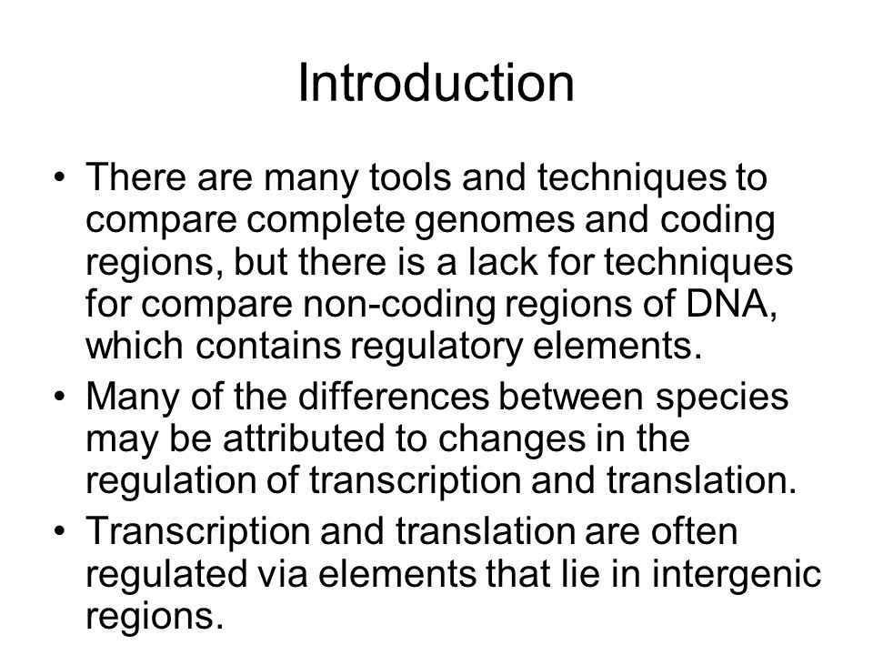 InterGenic Regions Intergenic regions are defined as the sequence between the translational stop of a gene and translational start of the next gene.