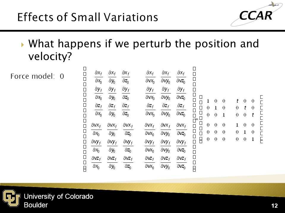 University of Colorado Boulder  We could have arrived at this easily enough from the equations of motion.