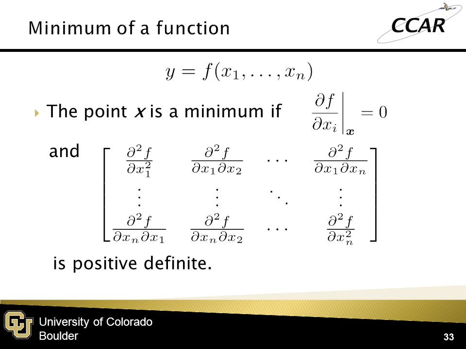 University of Colorado Boulder  Given the n×n matrix A, there are n eigenvalues λ and vectors X≠0 where 34  