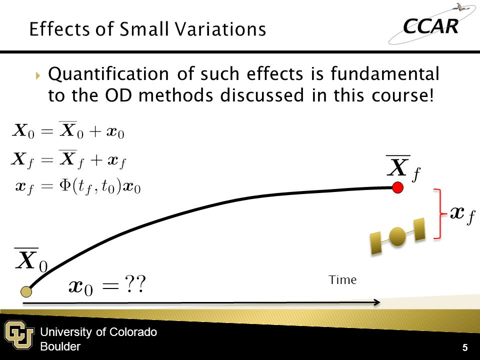 University of Colorado Boulder  Let's think about the effects of small variations in coordinates, and how these impact future states.