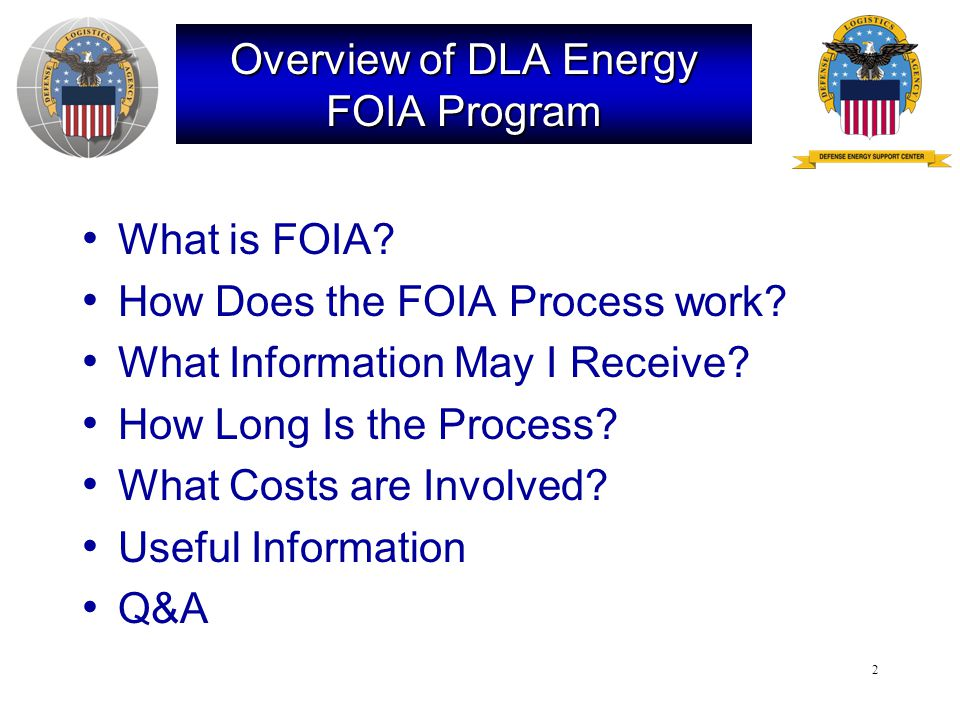 3 What is FOIA.