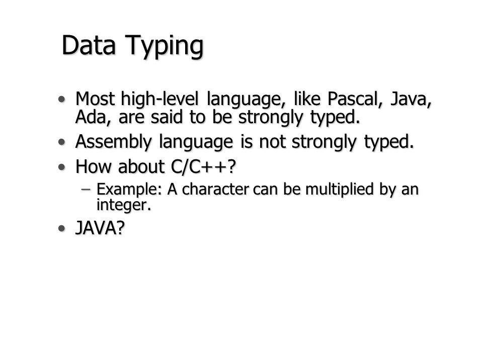 Data Typing (con.) ORG$1000 ADC.B$12 BDC.W$3456 CDS.B1 DDS.L1 MOVE.BA,D0 ADD.BB,D0[D0]  $12 + $34 MOVE.BA,D0 ADD.WB,D0[D0]  $12 + $3456 MOVE.LA,D0 ADD.LB,D0[D0]  .