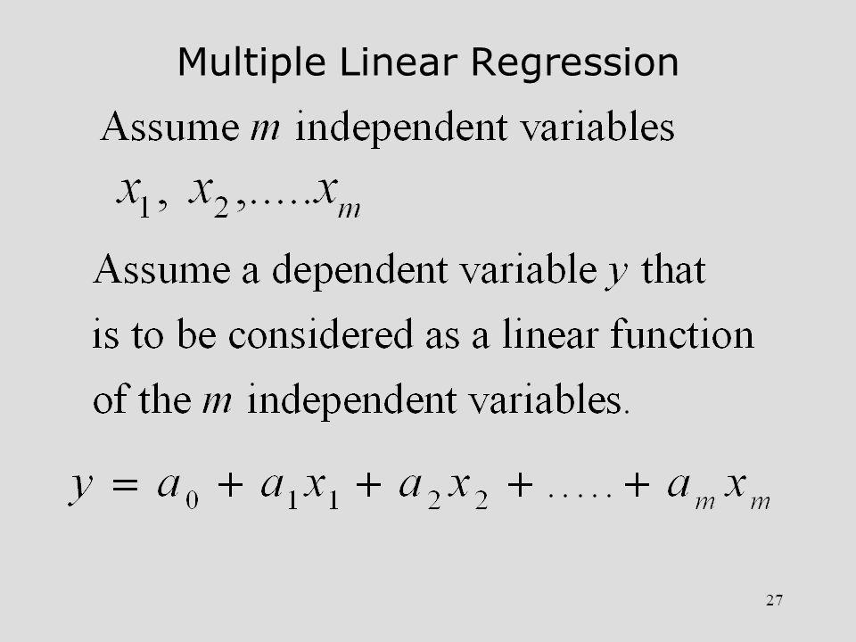 28 Multiple Regression (Continuation)