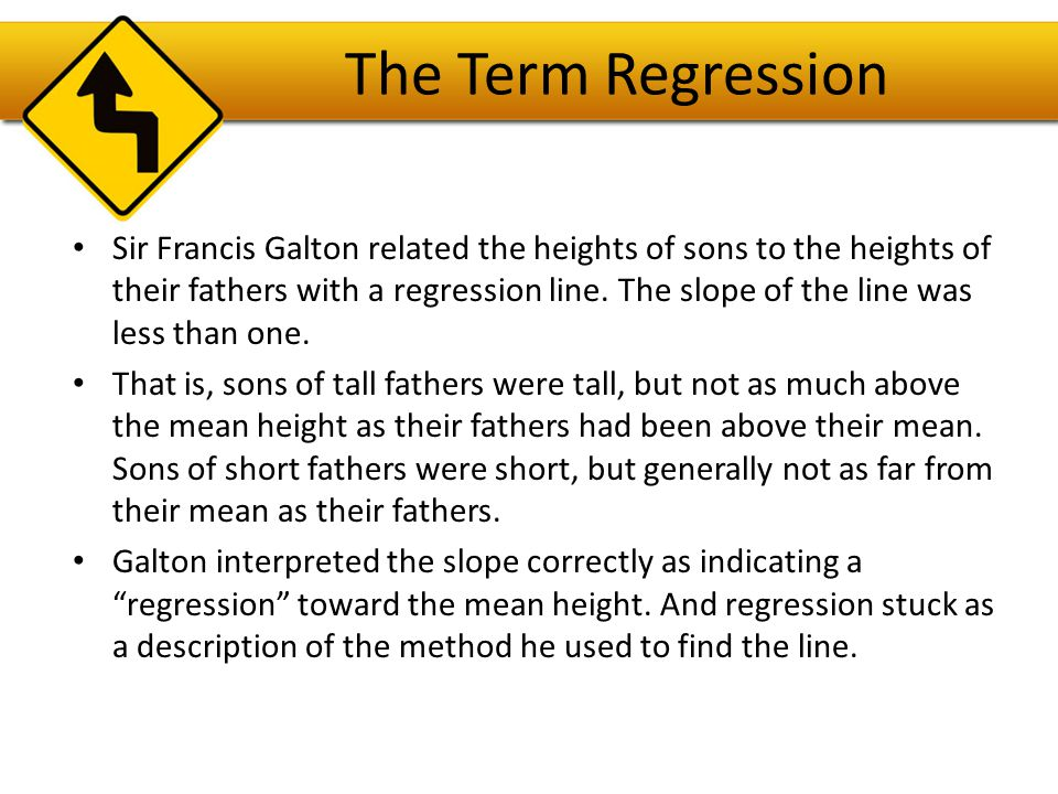 The Regression Line in Real Units Remember from Algebra that a straight line can be written as: In Statistics we use a slightly different notation: We write to emphasize that the points that satisfy this equation are just our predicted values, not the actual data values.