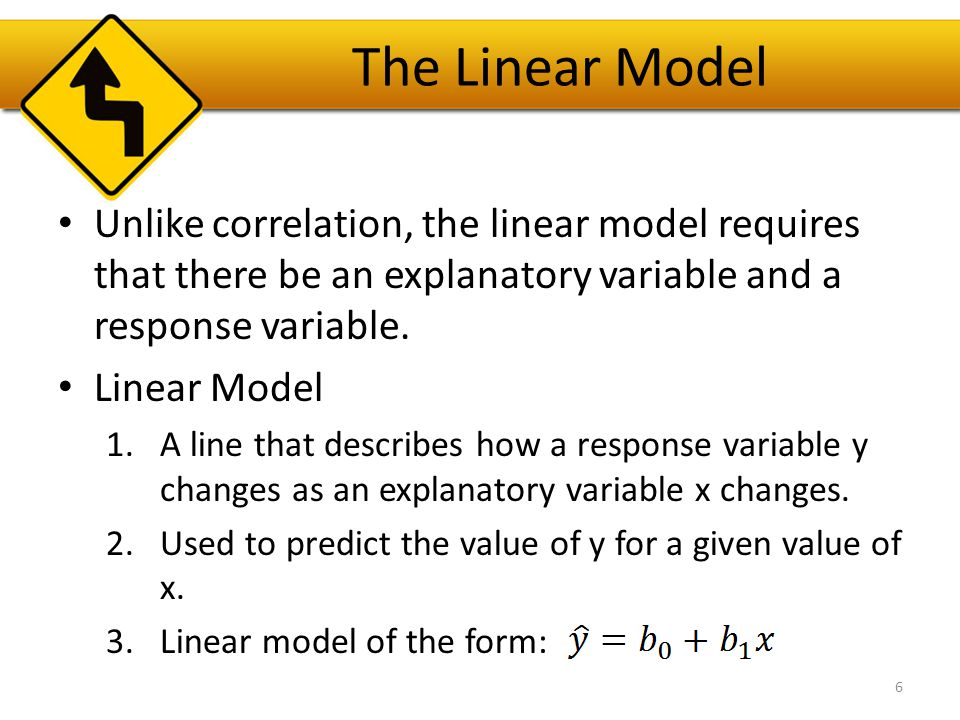 The Linear Model The model won't be perfect, regardless of the line we draw.