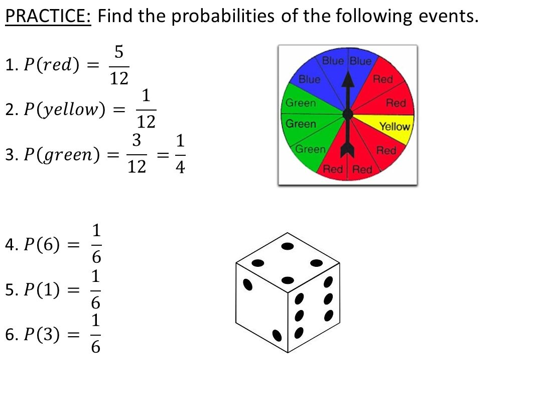 FINDING OUTCOMES OF MORE THAN ONE EVENT: EXAMPLE: You have a coin and a 6-sided die.