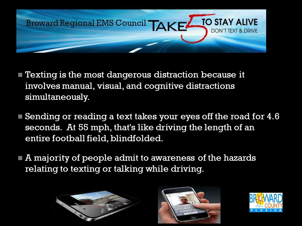 What Studies Show About Cell Phones  Drivers talking on cell phones = 18 percent slower braking than other motorists.